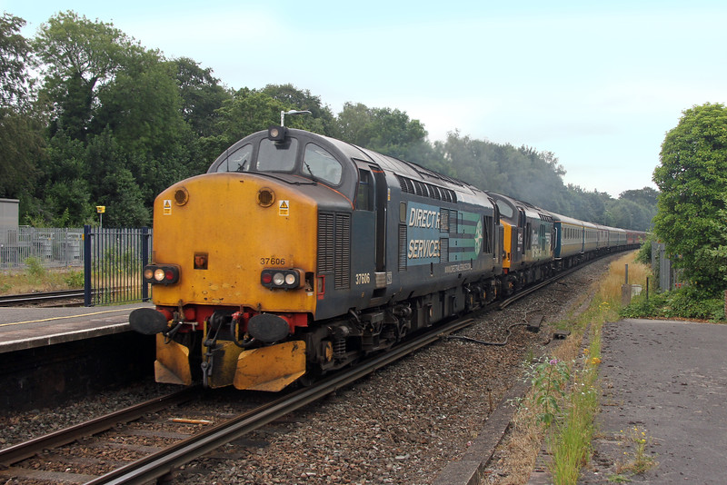 37606 Micheldever 24/07/16 5Z14 Eastleigh to Burton with 37609