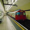 A train of London Underground Bakerloo Line 1972 Stock leaving Marylebone.