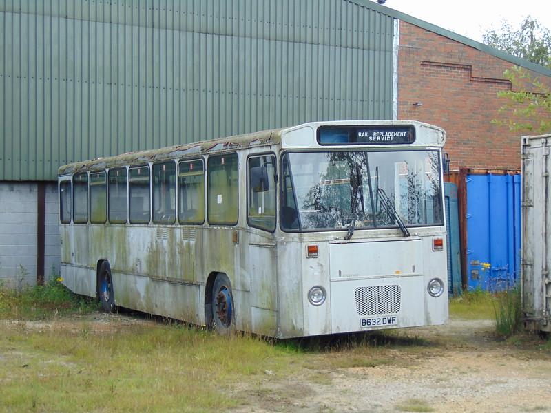 Alexander bodied Leyland Tiger B632DWF at Swanwick, Midland Railway Centre.
