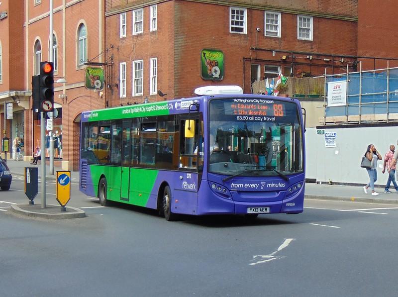 Nottingham City Transport Enviro 200 YX13AEM 370 on the 88.