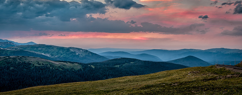 Sunset from Trail Ridge Road
