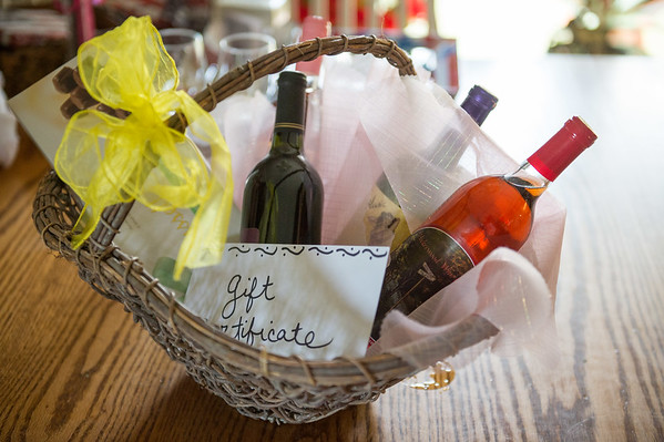 JOED VIERA/STAFF PHOTOGRAPHER- Middleport, NY- A basket to be raffled at the Music in the Park event.