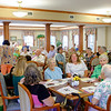 JOED VIERA/STAFF PHOTOGRAPHER- Lockport, NY-A crowd gathered to congratulate Esther Prudden on celebrating her 100th Birthday at Lockport Presbyterian Home.