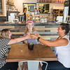 JOED VIERA/STAFF PHOTOGRAPHER- Lockport, NY-Morgan Dege, Sarah Sharp and  enjoy drinks during an outing to Scripts Cafe