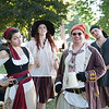 "JOED VIERA/STAFF PHOTOGRAPHER- Olcott, NY-Gabriela Larkins ""Rani Clark"", Katy Hubbell ""Jezebel"", Harrison Pease ""Henry 'halfcock' Day"" and Eric Hartman ""Wesley stark"" wait for the Pirate Festival to begin."
