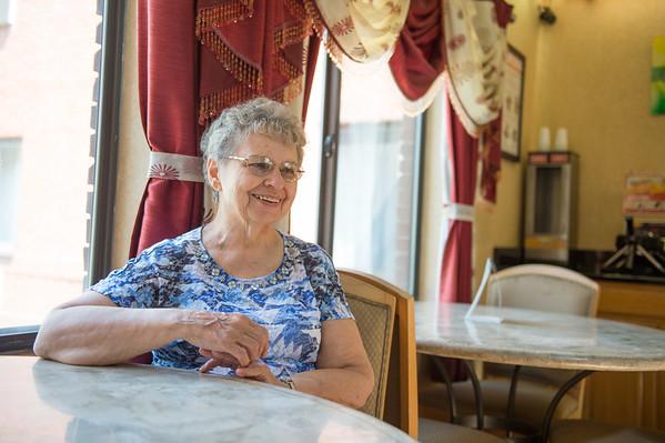 JOED VIERA/STAFF PHOTOGRAPHER- Lockport, NY-Miriam MacDonald talks to our reporter.