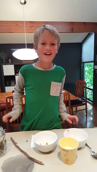 Connor cracking up over a Diary of a Wimpy Kid joke that he doesn't get :D<br /> Obscenity dropped at the end.