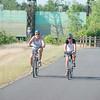 JOED VIERA/STAFF PHOTOGRAPHER-Pendleton, NY-Cyclists ride down the Erie Canal Bike Path.