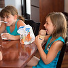 JOED VIERA/STAFF PHOTOGRAPHER- Lockport, NY-Alexis Hassall 8 and Elliana Henick 8 enjoy some ice cream at Lake Effect.