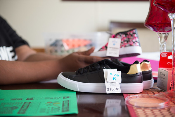 JOED VIERA/STAFF PHOTOGRAPHER-Lockport, NY-  One of the shoes that will be available at Stepping Up.