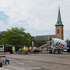 JOED VIERA/STAFF PHOTOGRAPHER- Lockport, NY-Construction continues on the parking lot in front of City Hall.