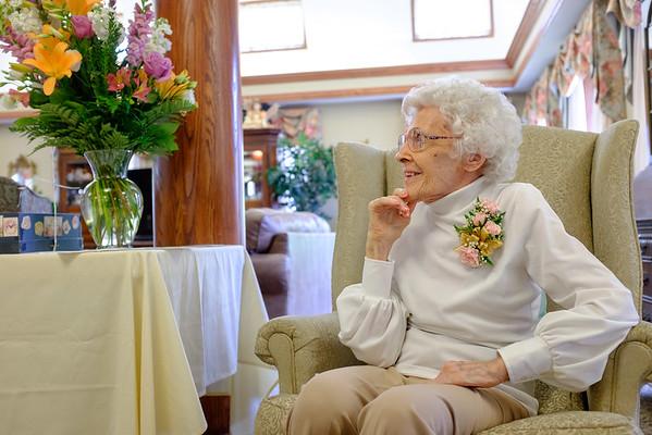 JOED VIERA/STAFF PHOTOGRAPHER- Lockport, NY-Esther Prudden Celebrates her 100th Birthday at Lockport Presbyterian Home.
