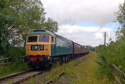 With the sun threatening to make an appearance, 47401 arrives into Butterley with the 1136 Hammersmith - Riddings on the second day of the event (10/07/2016)