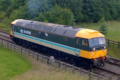 47765 makes its way off shed at Ruddington Fields prior to working 1A01 0900 to Loughborough High Level during a 'Class 47' running day at the GCR(N). The loco was making its debut runs in its new livery after a lengthy re-paint (02/07/2016)