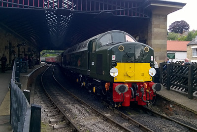 40013 is pictured on arrival at Pickering with 1T11 0935 ex-Whitby. The loco has undergone a painstaking restoration over the last thirty years and made its first passenger workings in preservation at Swanage in May (03/07/2016)