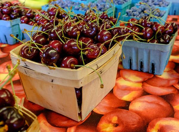 JOED VIERA/STAFF PHOTOGRAPHER-Gasport, NY- Schwab Farm grown cherries for sale at Schwab Farm Market.