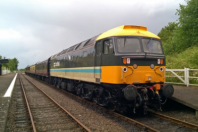 47765 is pictured on arrival at Rushcliffe Halt with 1A11 having worked the train forward from Ruddington South Junction (02/07/2016)