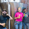 JOED VIERA/STAFF PHOTOGRAPHER-Lockport, NY-Head brewer Jared Lewinski, Martha Howe and lead brewer Jason Crossett stand in front of a tank of Walter Kohl-sch beer.