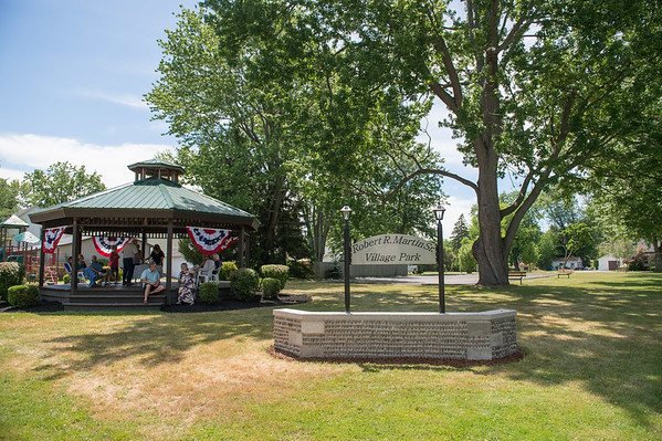 JOED VIERA/STAFF PHOTOGRAPHER-Wilson, NY-A sign for the Robert R. Martin Sr. Village park was revealed today.