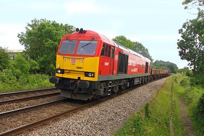 60007 Test Lane 22/06/16 6V41 Eastleigh to Westbury