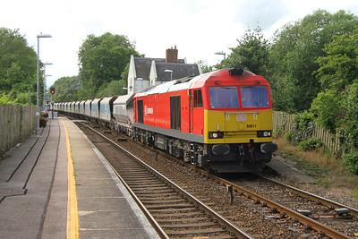 60017 Mottisfont & Dunbridge 24/06/16 7O40 Merehead to Eastleigh