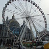 The ferris wheel in front of Antwerp Central station.