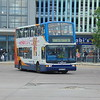 Stagecoach Dennis Trident Plaxton President AE53TZM 18060 at Bedford bus station on the 9 to Shortstown.