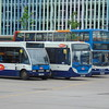 Stagecoach buses lined up at Bedford bus station including Optare Solo YJ56AOL 47436, Enviro 200 SN63KFT 36937 and Dennis Trident ALX400 AE06GZW 18424.