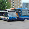 Stagecoach Optare Solo AE06TWU 47353 with Volvo Plaxton Panther AE11FMF 53618 at Bedford bus station.