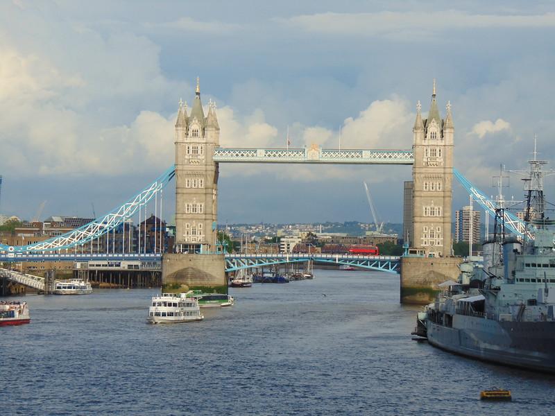 Tower Bridge from London Bridge.