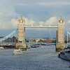 Tower Bridge from London Bridge.