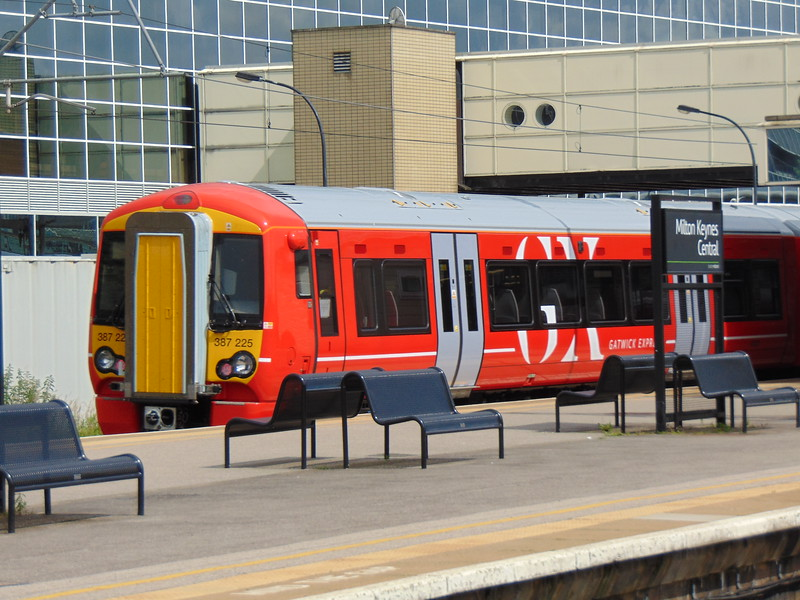 Gatwick Express Class 387 Electrostar no. 387225 at Milton Keynes Central on mileage accumulation tests.