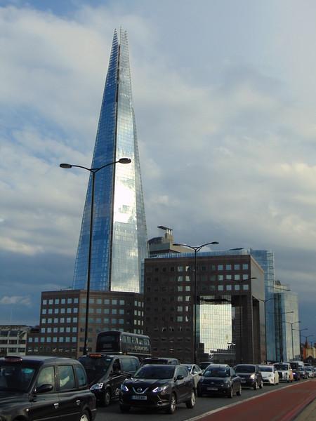 The Shard seen from London Bridge.