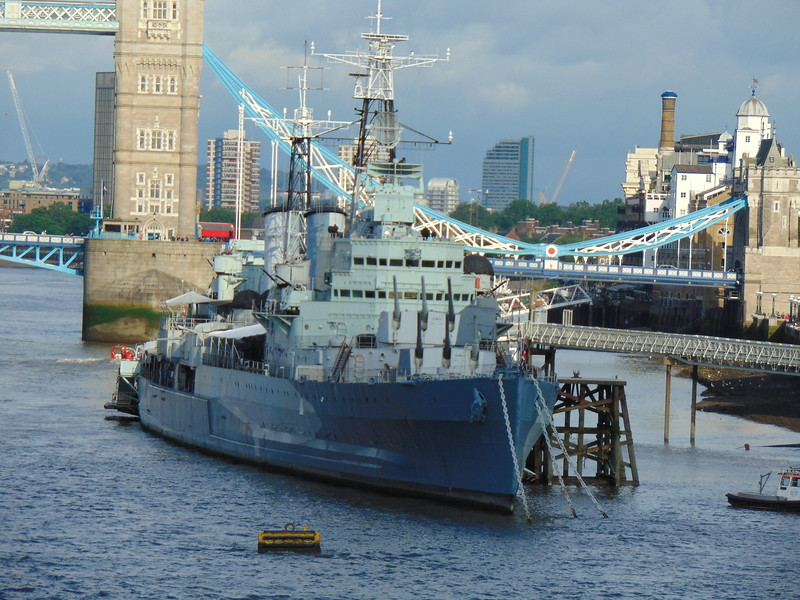 HMS Belfast on the South Bank of the Thames.