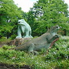 Slightly inaccurate Iguanadon statues in Crystal Palace Park.