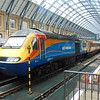 East Midlands Trains Class 43 HST power car no. 43060 at London Kings Cross on a Virgin Trains East Coast service.