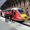 Virgin Trains East Coast Class 43 HST Power Car no. 43320 at York having brought me from Kings Cross.