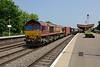 9 June 2016 :: 66158 is leading 4Z69 from Southampton to Masborough through Leamington Spa