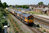 6 June 2016 :: 66750 is pictured at Eastleigh with 5M66 from Eastleigh to Wembley