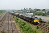 7 June 2016 :: The Royal Train was on its way to Cardiff and is seen passing a misty Severn Tunnel Junction with  67006 on the rear and out of view, the train loco was 67005.  The train ran as 1Z40