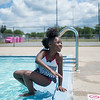 JOED VIERA/STAFF PHOTOGRAPHER-Lockport, NY-Jada Davidson 7 dips her feet in  the Lockport Community Pool during open swim.