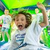 JOED VIERA/STAFF PHOTOGRAPHER-Lockport, NY- Karli Manna 7 plays in a Bounce house during Desales' Field Day.