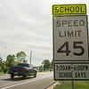 JOED VIERA/STAFF PHOTOGRAPHER-Pendleton, NY-A 45 MPH sign is posted on Mapleton Road.