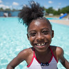 JOED VIERA/STAFF PHOTOGRAPHER-Lockport, NY-Jada Davidson 7 after jumping in  the Lockport Community Pool during open swim.
