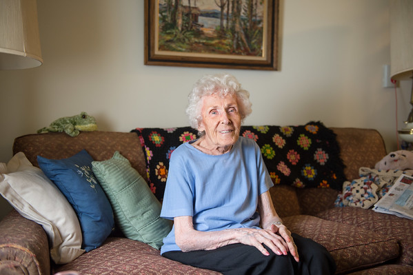 JOED VIERA/STAFF PHOTOGRAPHER-Lockport, NY- Esther Pruden sits in her room at Lockport Presbyterian Home.