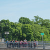 JOED VIERA/STAFF PHOTOGRAPHER-Lockport, NY-A number of students look over the Locks while on the Big Bridge on their way to the Lockport Caves.