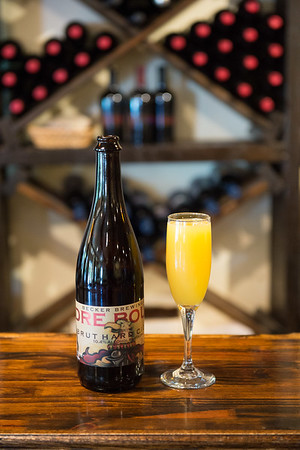 JOED VIERA/STAFF PHOTOGRAPHER-Gasport, NY-  A mimosa made with Ciderat Becker Brewery.
