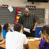 JOED VIERA/STAFF PHOTOGRAPHER-Lockport, NY-Joe Poole talks to students participating in the Empowers program.