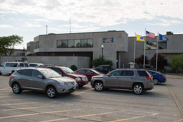 JOED VIERA/STAFF PHOTOGRAPHER-Lockport, NY- Construction will switch to the North side City Hall parking lot today.