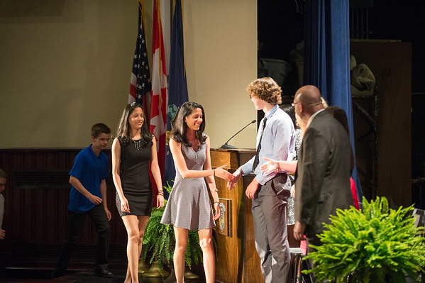 JOED VIERA/STAFF PHOTOGRAPHER-Lockport, NY- Students are recognized on stage at the Underclassman Awards ceremony at Lockport High School.